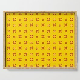 flag of new mexico 9 Serving Tray