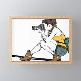 Photograph in the making Framed Mini Art Print