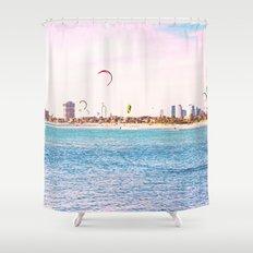 Windsurfing at St Kilda Shower Curtain