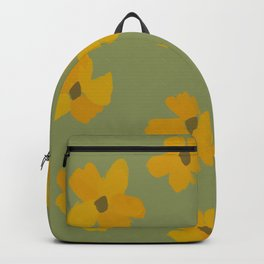 Flowers On Green Pastel Backpack