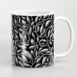 Dark Silver Leaf Weave Coffee Mug