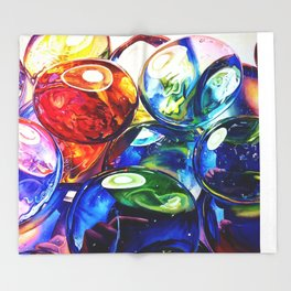 Glass Gems Throw Blanket