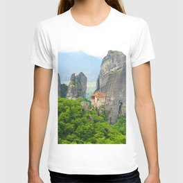 Christian Orthodox monastery of Meteora, Greece T-shirt