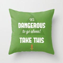 Zelda Quotes Throw Pillow