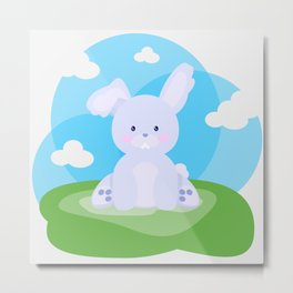 Bunny in country Metal Print