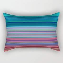 Blurry Saturn Stripes Rectangular Pillow