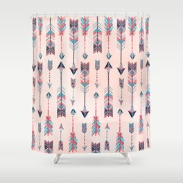 Patterned Arrows Shower Curtain