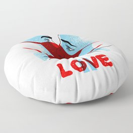 Love is paused. Poster. Floor Pillow