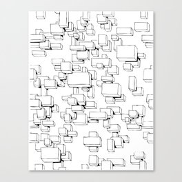 Boxes on Boxes Canvas Print