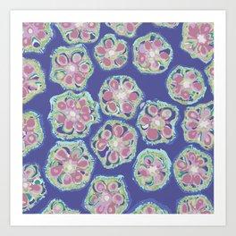 Okra Florets Art Print