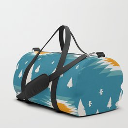 Trees in snow- ethnic pattern Duffle Bag