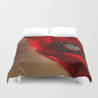 romantic Duvet Covers featuring Poppies(romantic). by Mary Berg