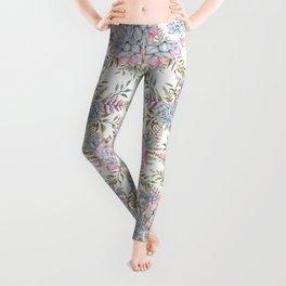 succulent watercolor 14 Leggings