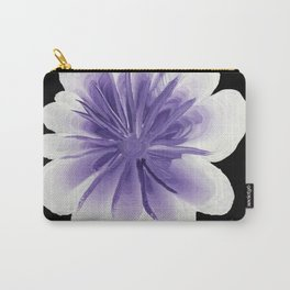 Large Flower Filigree Scroll Floral Art Acrylic Painting Purple Flower Carry-All Pouch