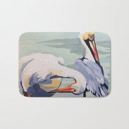 Preening Pelicans Bath Mat