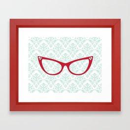 Red Specs Framed Art Print