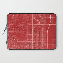 Scottsdale Map, USA - Red Laptop Sleeve