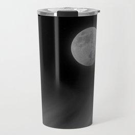 Moon Sky // La Luna in the Dark Night Clouds Stars Full Glowing Dream Like Fantasy Travel Mug