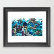St. Louis Zoo Sea Lions Framed Art Print