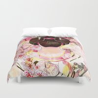 japanese Duvet Covers featuring Japanese by Felicia Cirstea