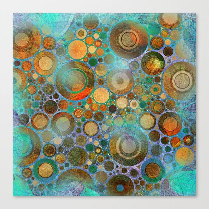 Abstract Circles Pattern Canvas Print