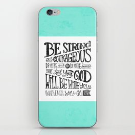 Joshua 1:9 iPhone Skin