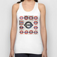 London Tube Unisex Tank Top
