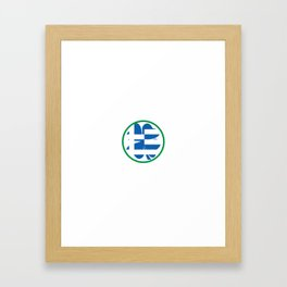 Irish Today Greek Tomorrow St Patrick's Day print Framed Art Print
