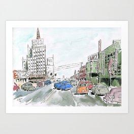 1950s Los Angeles Art Print