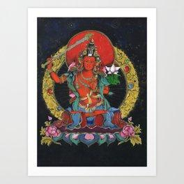Buddha Manjushri Kunstdrucke