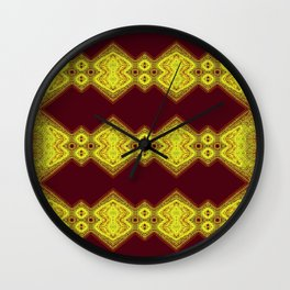 Yellow on Red Wall Clock