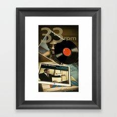 33 Rpm. Framed Art Print