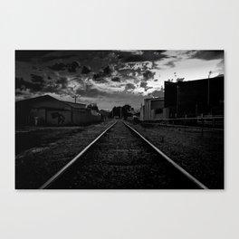 Dark Railway Canvas Print