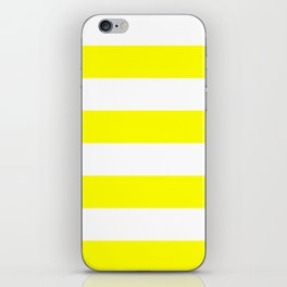 Wide Horizontal Stripes - White and Yellow iPhone Skin