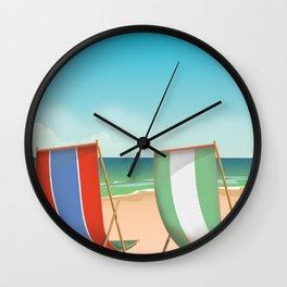 Summer Deck chairs Wall Clock