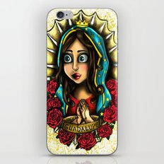 Lady Of Guadalupe (Virgen de Guadalupe) WHITE VERSION iPhone & iPod Skin