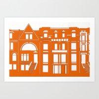 Brownstones Art Print