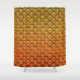 Pineapple Mania Texture Shower Curtain