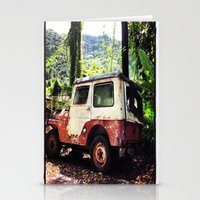 jeep Stationery Cards featuring Old Jeep by FPSTUDIO