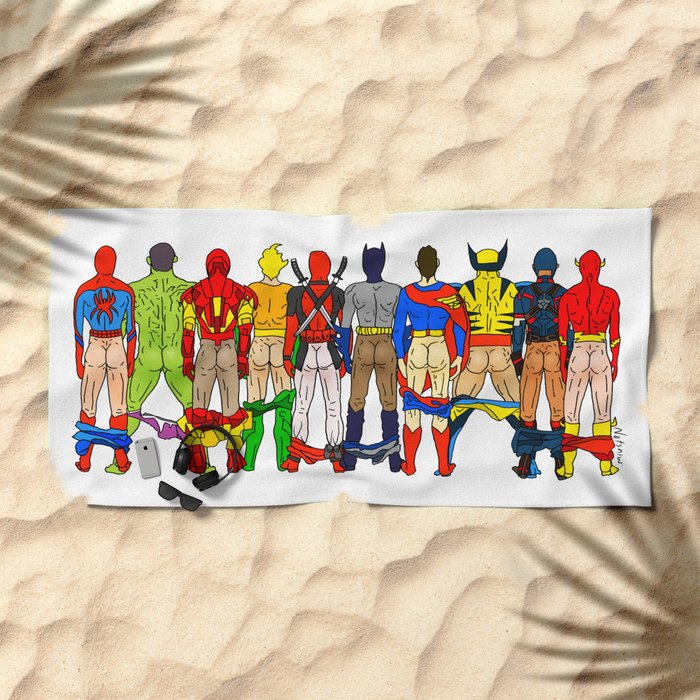 Superhero Butts Beach Towel