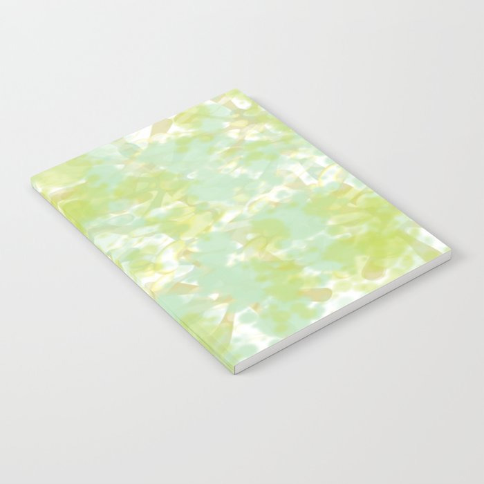 Golden Green Watercolor Abstract Notebook