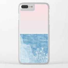 Pastel Sea Landscape Design Clear iPhone Case