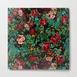 Rose Night Garden Metal Print