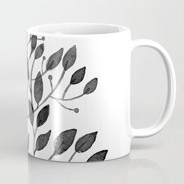 black sprig drawn in ink Coffee Mug