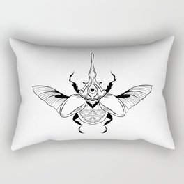 Eye of the Beetle Holder Rectangular Pillow