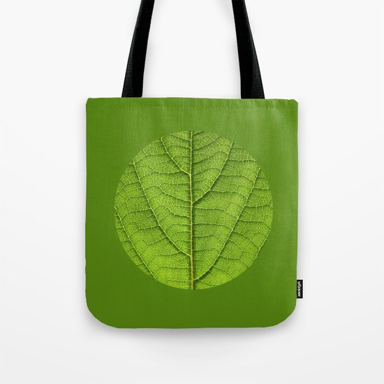 green leaf structure XII Tote Bag