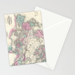 Vintage Map of The Roman Empire (1862) Stationery Cards