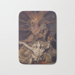 The number of the beast is 666 by William Blake Bath Mat