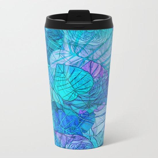Leaves in Rosy Background 3 Metal Travel Mug
