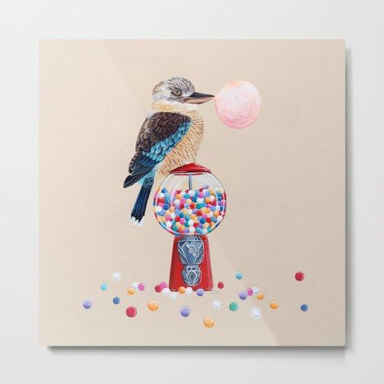 Kookaburra Gumball Machine Metal Print